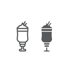 Mocha line and glyph icon coffee and cafe vector