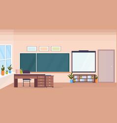 modern school classroom interior chalk board vector image