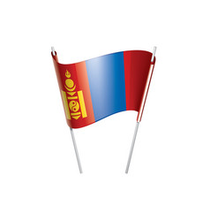 mongolia flag on a white vector image
