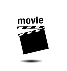 movie clapper board background image vector image