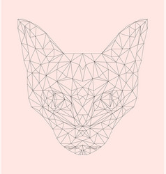 New neon retrowave vaporwave synthwave cat vector