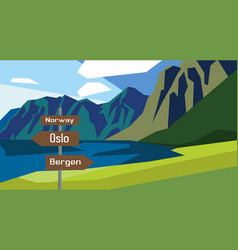 Norway map country infographics sign vector