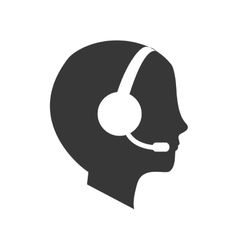 Operator assistant man icon vector