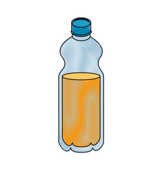 Orange juice icon vector