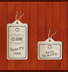 Paper tags on overlay background vector image
