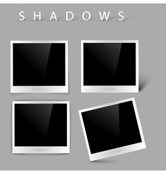 photos with realistic shadow effects vector image