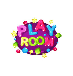 playroom logo template design bright colorful vector image