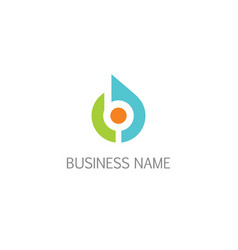 round target abstract business logo vector image