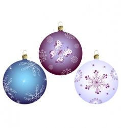 set Christmass balls vector image