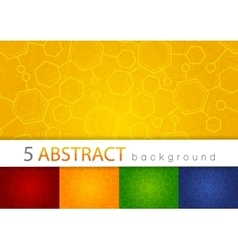 Set of 5 colorful abstract medical background vector