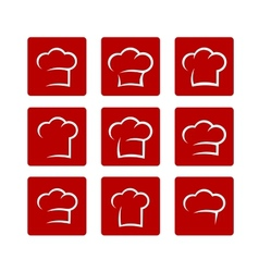 Set of abstract chef hat vector