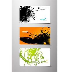 Set of gift cards with splash vector