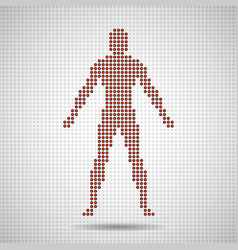 Silhouette man of pixels abstract background vector
