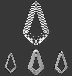 Silver line success logo design set vector