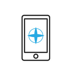 Smartphone icon mobile compass vector