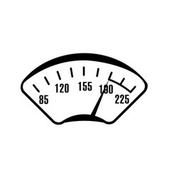 speedometer scale vector image