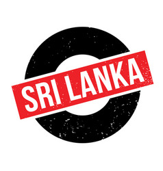 Sri lanka rubber stamp vector