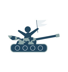 tank icon in trendy flat style isolated on vector image