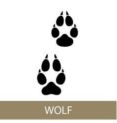 Trace animal walf vector