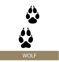 Trace of animal walf vector