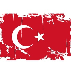 Turkish grunge flag vector