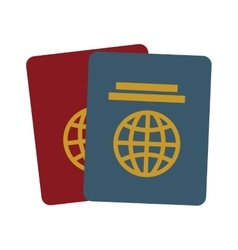 Two passport identification tourist vector