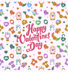 valentine day pattern vector image