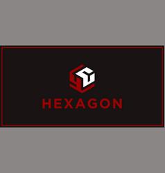 Yc hexagon logo design inspiration vector