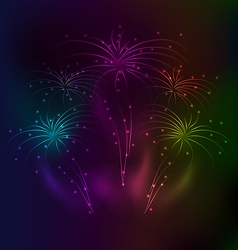 Awesome salute background with light effect vector image vector image