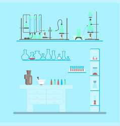 chemistry lab test vector image