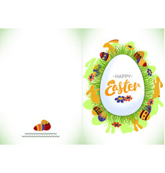 ready for print happy easter greeting card vector image vector image