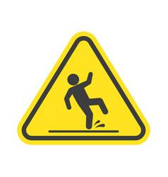 Wet floor warning sign vector