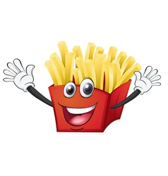 a french fries vector image
