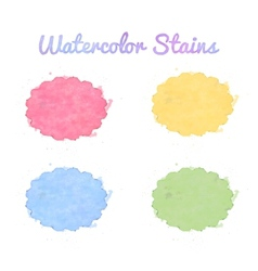 Beautiful watercolor design elements vector image