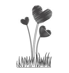 figure plant heart icon vector image