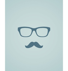 Glasses and mustache vector