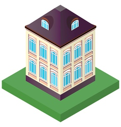 old house with two floors with windows vector image
