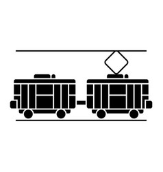 tram icon black sign on vector image