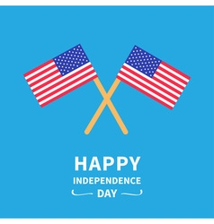Two flags Independence day Flat design vector image