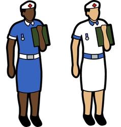 Two nurses vector image vector image