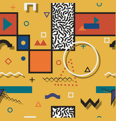 abstract pattern with geometric shapes vector image