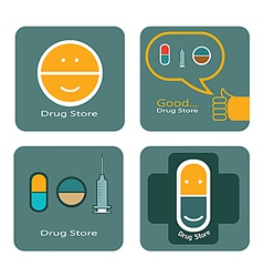 Drug store icon design vector image vector image