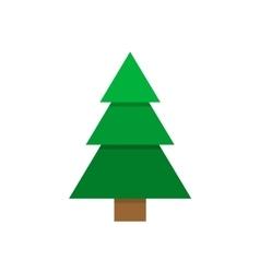 Pine tree flat geometric paper style vector image