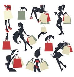 shopping collection vector image