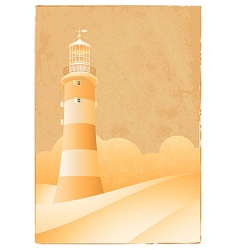 vintage lighthouse vector image vector image