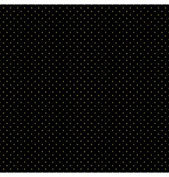 Yellow Dots Black Background vector image