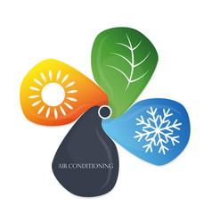 air conditioning eco symbol vector image vector image