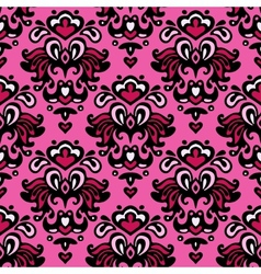 Damask seamless flower pattern vector image