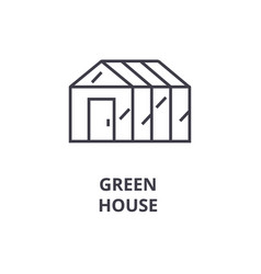 green house line icon outline sign linear symbol vector image
