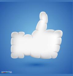 like cloud vector image vector image